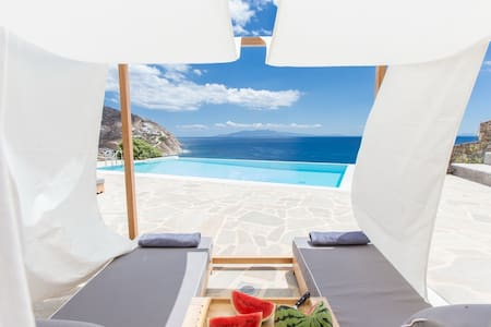 Villa Ambra on the beach with private pool - Elia