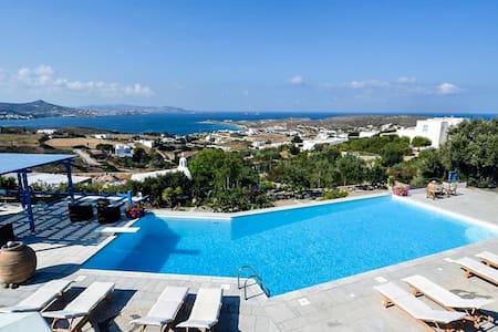 Paros Seaview Studio #2, with pool