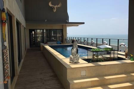 位于中国的马尔代夫,顶层270度海景会所,为您私人配备双套房加泳池 - Apartment