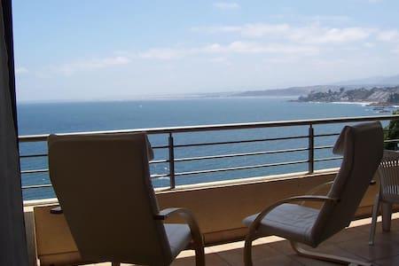 Gran terraza relajo al sonido del mar - Apartamento