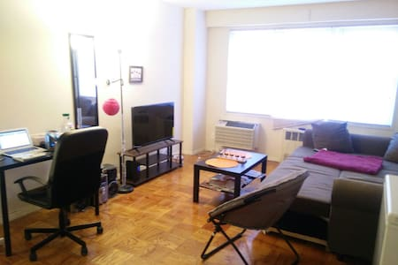 Converted sofa-bed for 1, near Main St, Flushing.. - Apartment