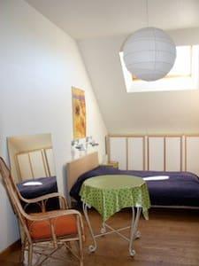Grote zonnige kamer/studio met ontbijt. - Ház