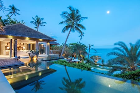 Villa 2 is one of three stunning villas that make up the impressive Sangsuri Estate on Koh Samui.