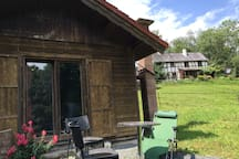 Blockhaus in herrlicher Natur (Stadtnah)