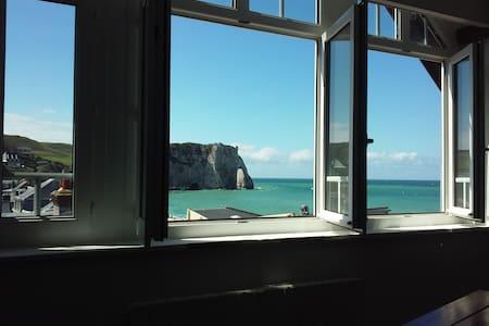 Superbe 2 P lumineux, vue panoramique falaise mer - Apartament