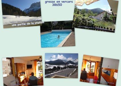 Agréable studio cabine de 25 m2 proche des pistes - Gresse-en-Vercors - Apartment