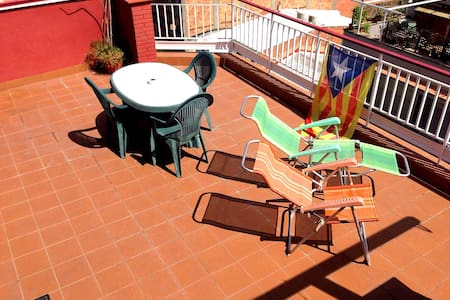 Nice double bed with private terrace in Barcelona - Barcelona - Wohnung