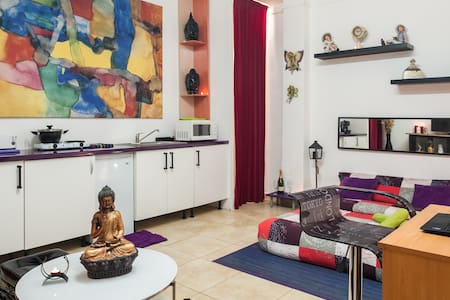 Welcome to BCN !! Welcome home !! Rent a cozy and quiet study with main entrance at street level. All the amenities needed for a pleasant stay. Walking to Fira 2 and fast transport links to the city center and the airport of El Prat.