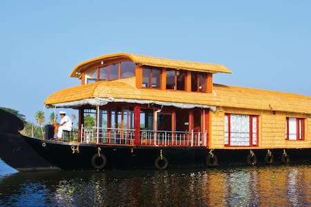 The boathouse has 3 bedrooms and can ost up t 10 guests.Alappuzha also known as Alleppey, is the administrative headquarters of Alappuzha District of Kerala state of southern India. Alappuzha is the sixth largest city in Kerala.