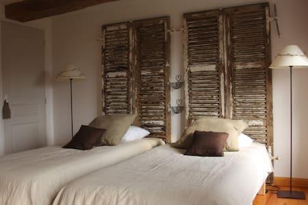 Ribeaufontaine:Chambre lits jumeaux - Dorengt