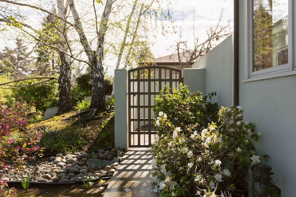 Private Entry w/ Calif OrangeTrees