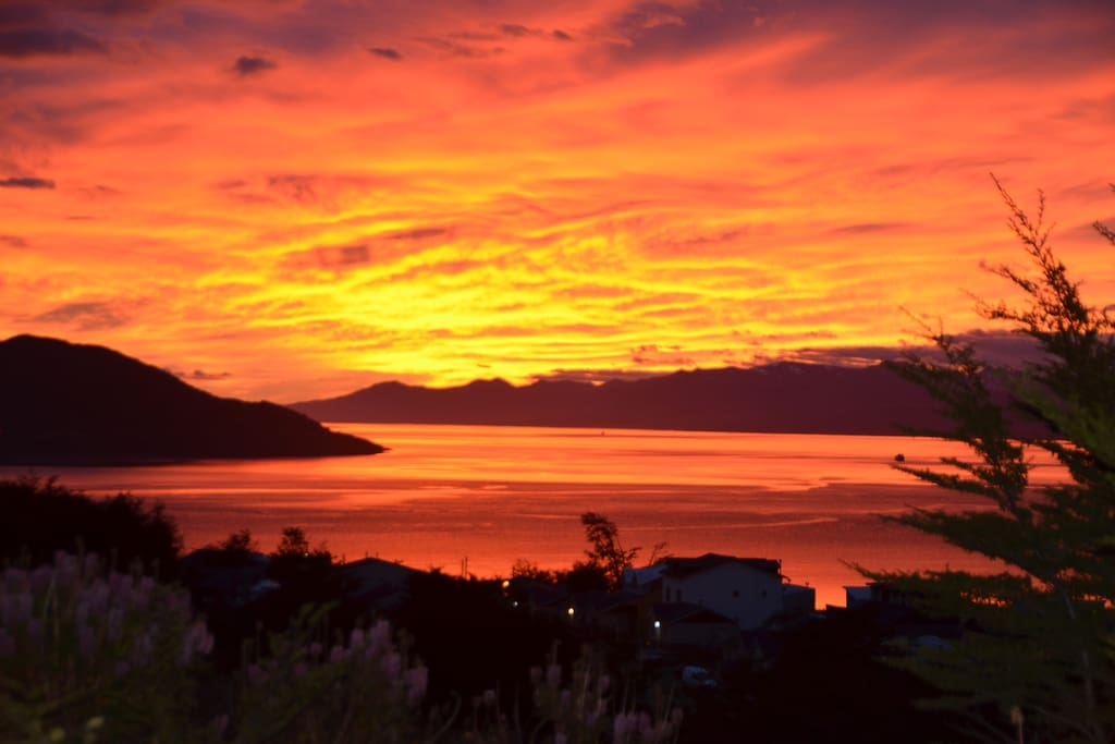 Sunrise on the Beagle Channel