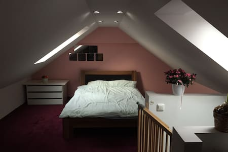 Lovely attic room close to airport - Eching - Apartment