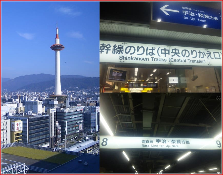 JR Kyoto Station → JR Nara Line(track8 or track9)→ Kohata Station getting off.  240 yen about 17 minutes.( Local train) ※Do not express train ride※