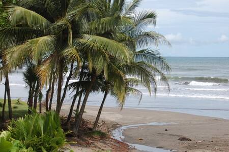 Roca Mar Villas is located on the central Pacific coast of Costa Rica.  Esterillos Oeste offers dark sand beaches, small fishing boats on the beach, , green palm treesoverhanging the beach, a sea turtle preserve and a consistent surf break.