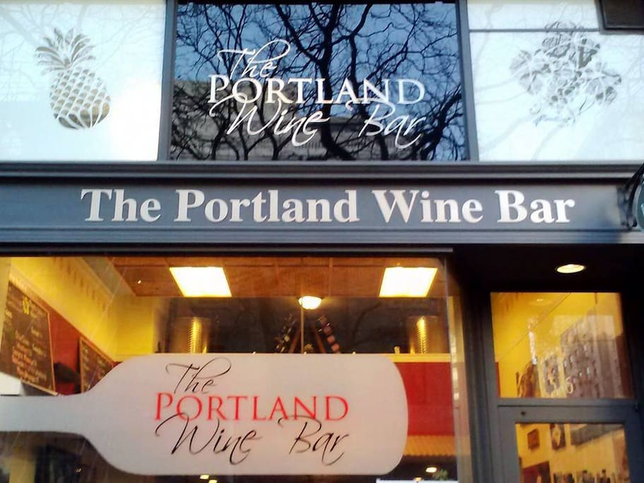 Exterior of our wine bar and winery tasting room