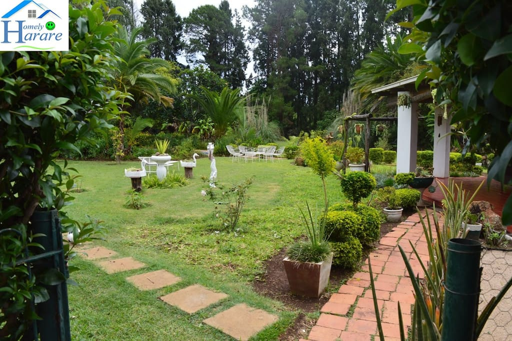 You may walk about the 2-acre garden...