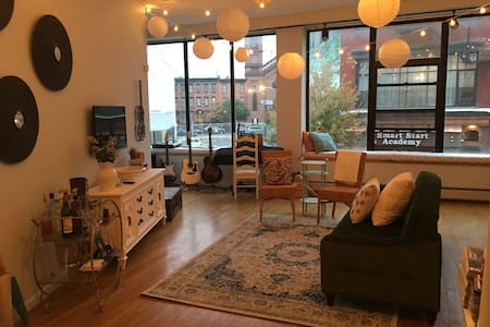 Master bedroom in spacious loft - Jersey City