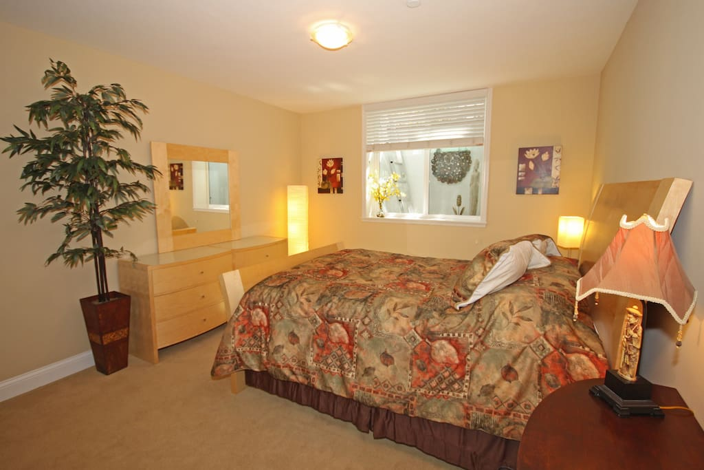 Your Bedroom with Dresser (includes a Netflix enabled TV and DVD player that isn't show in this picture.)