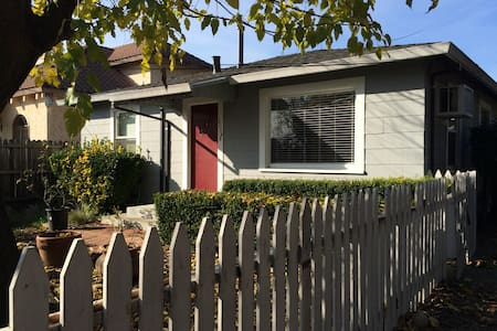 Stay at a quiet two bedroom home in the heart of Napa Valley. The immediate area of Rutherford features many wineries and options for eating. The surrounding roads are popular for cyclists and there are State Parks for hiking as well.