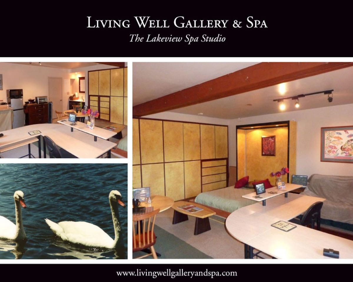 """Lakeside Furnished Private Spa Studio """"Better than Home"""""""