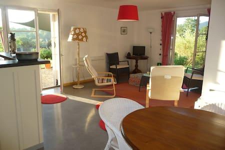 Splendide vue Pyrénées, Rez de jardin, 2 chambres - saint girons - Andet