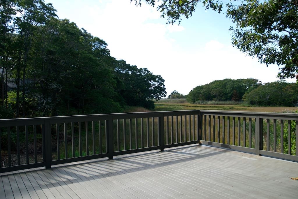 Large deck with marsh view.