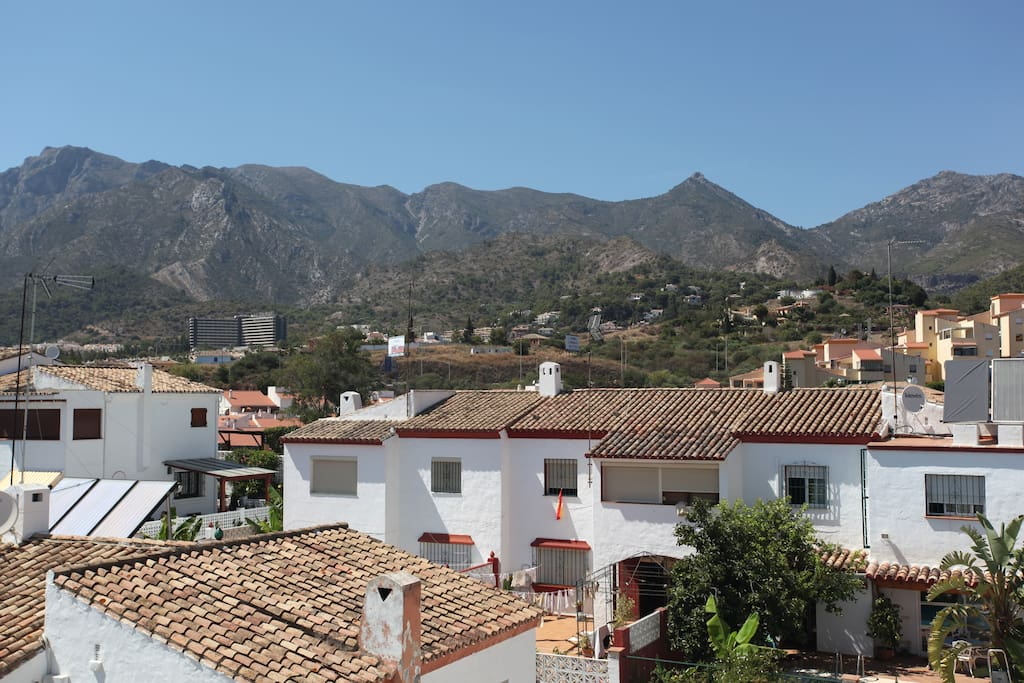 The views from your terrace to the Sierra Blanca.
