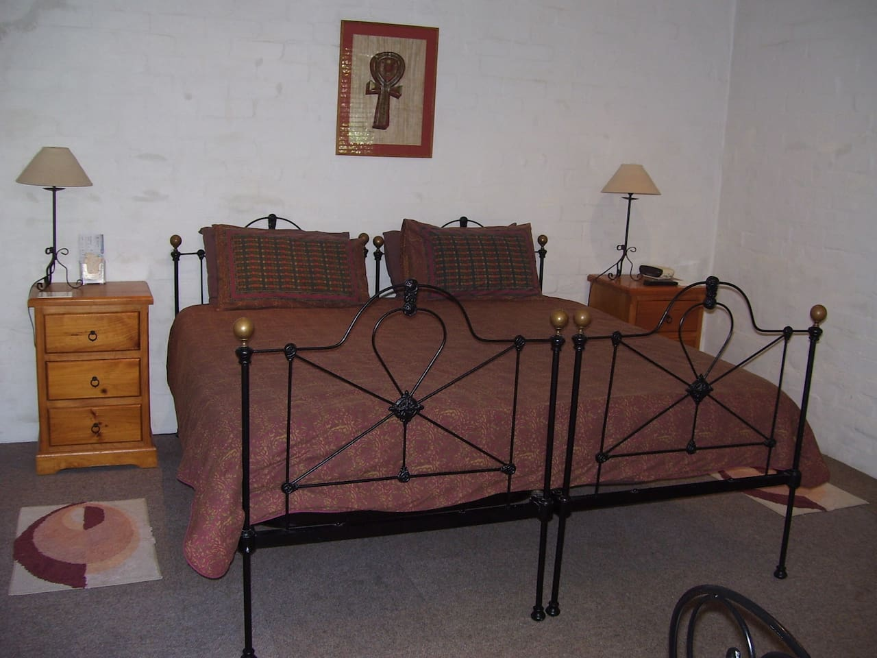 Can be arranged as King or Twin Beds. Portable single bed available for a third guest