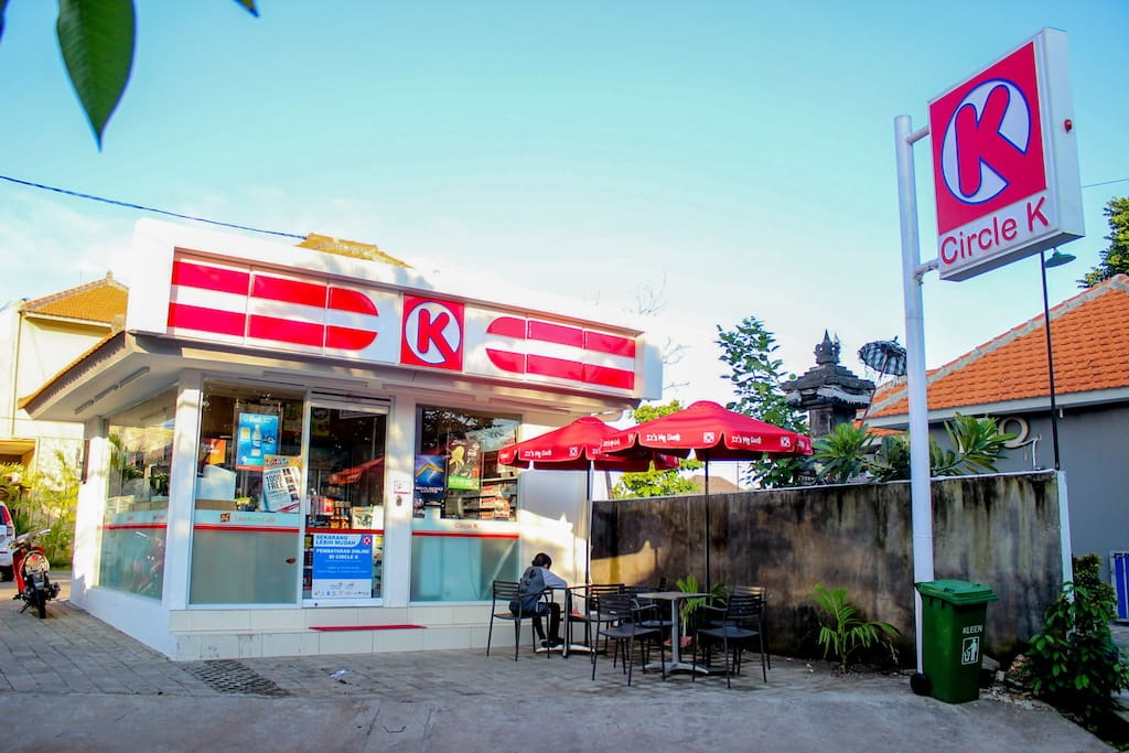 Circle-K 24 hours store just 50 meters from your villa