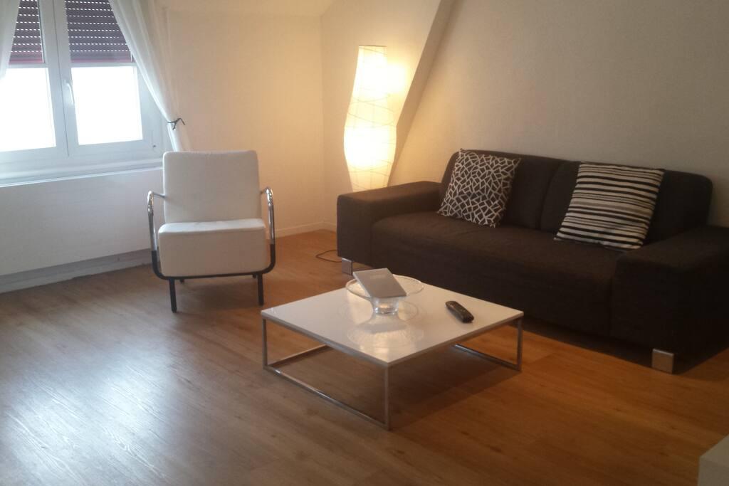 Sofa and TV area