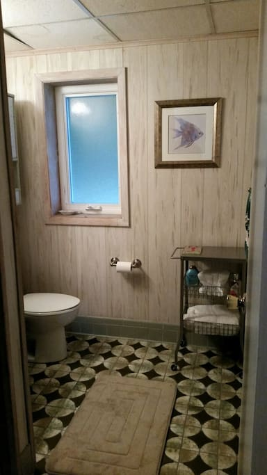 Private bathroom w/shower.