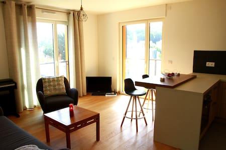 Nouveau 2 pièces avec balcon (48m²) - Appartement