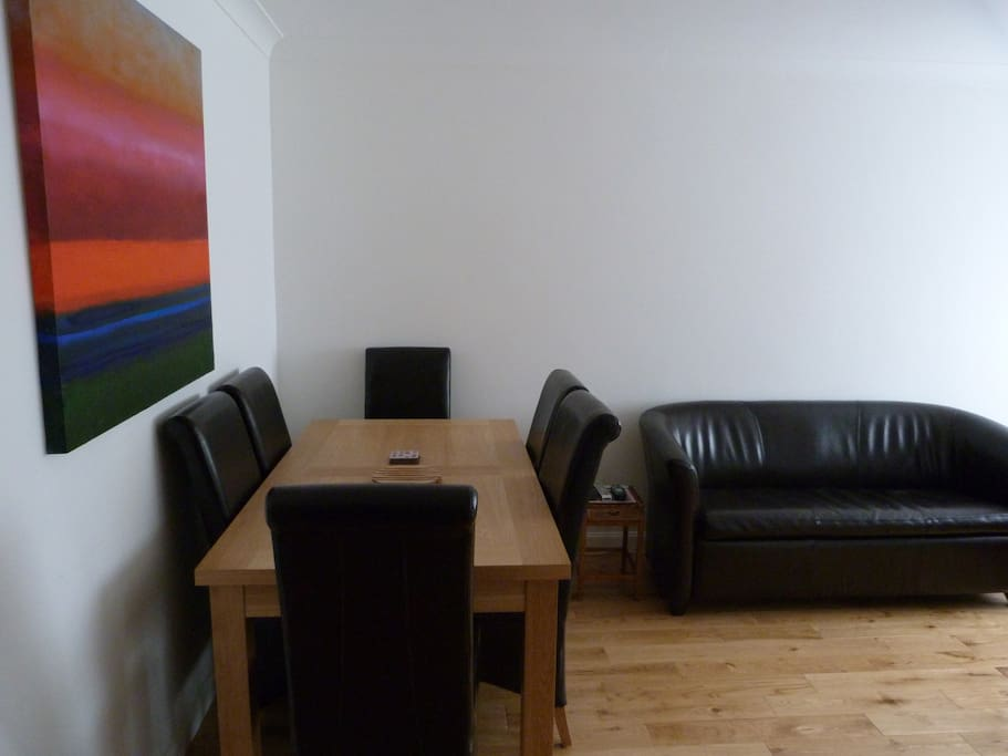 The lounge, with dining area
