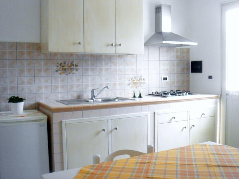 cucina in muratura di nuova realizazione