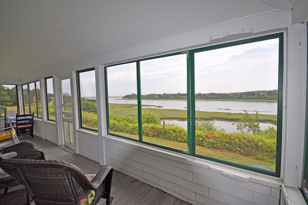 Gooch Cottage:  Picture # 3 of porch looking out toward ocean
