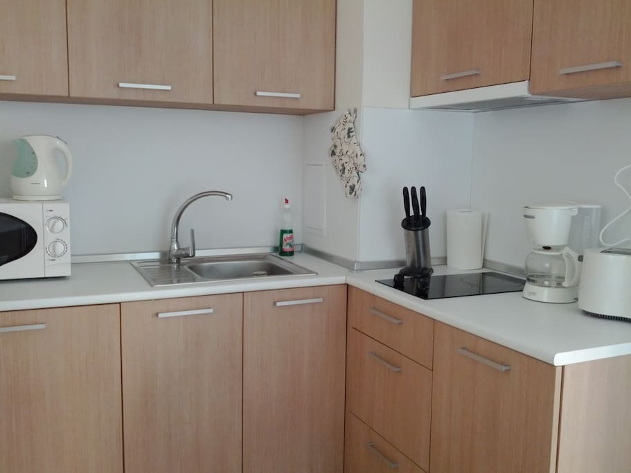Kitchen fully furnished and equipped, you can enjoy home made breakfast or dinner