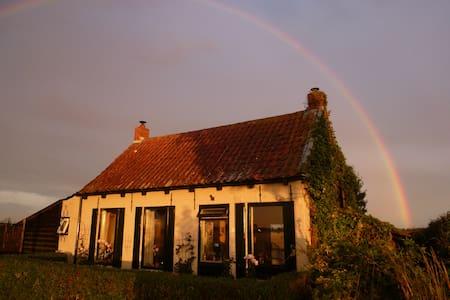 Nieuw; landelijk dijkhuis, Zeeland - Rumah