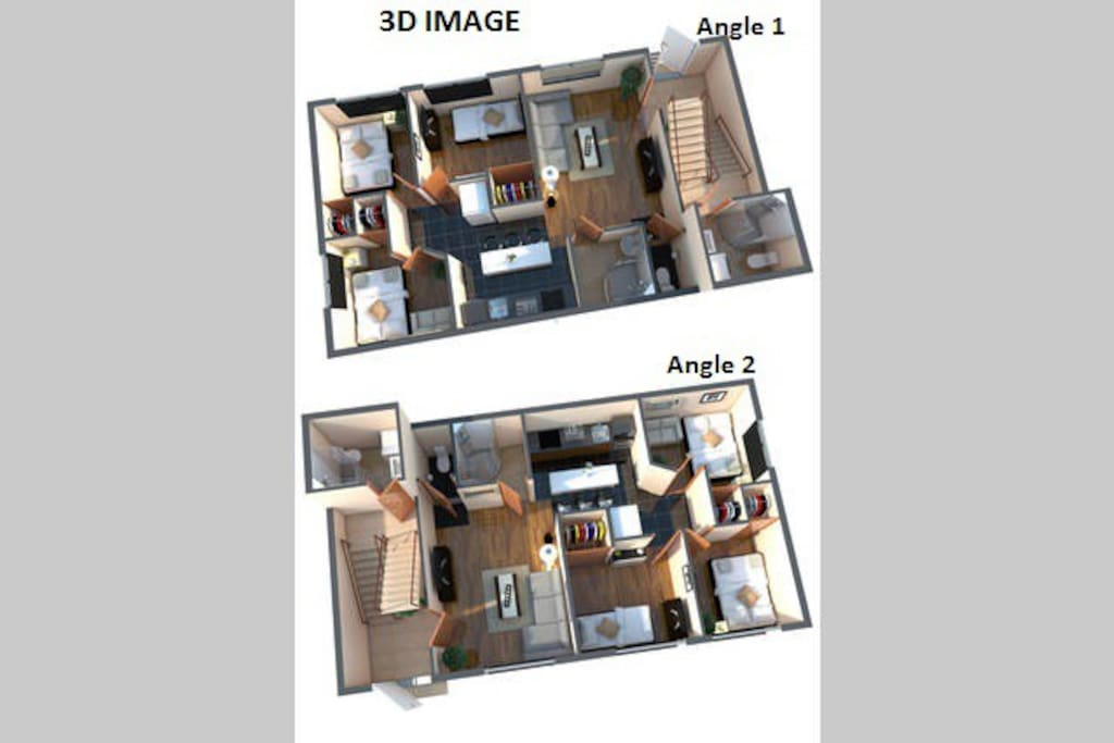 3D image from 2 different angles.