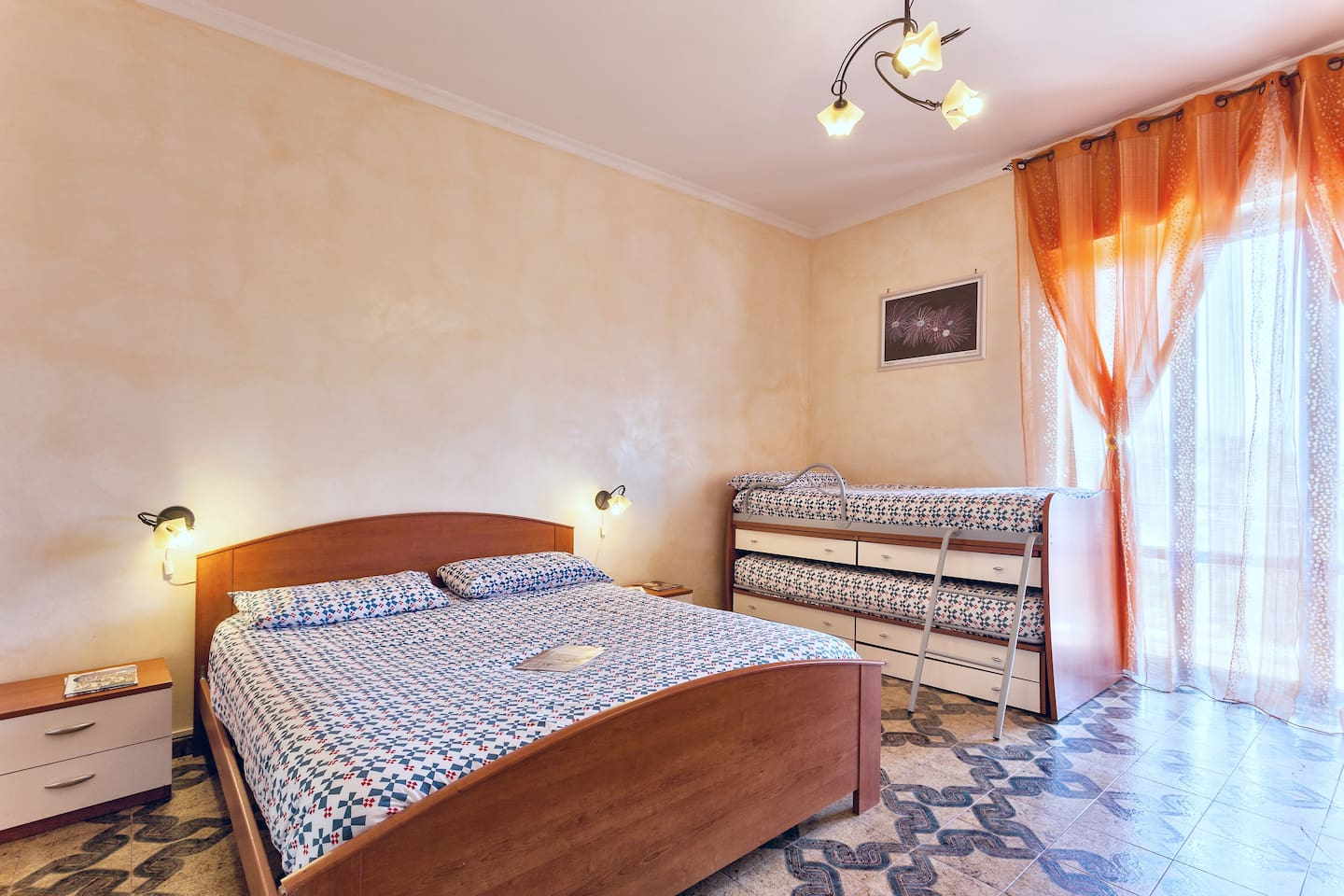 Room Saturno: for beds for our guests, a private bathroom and a balcony