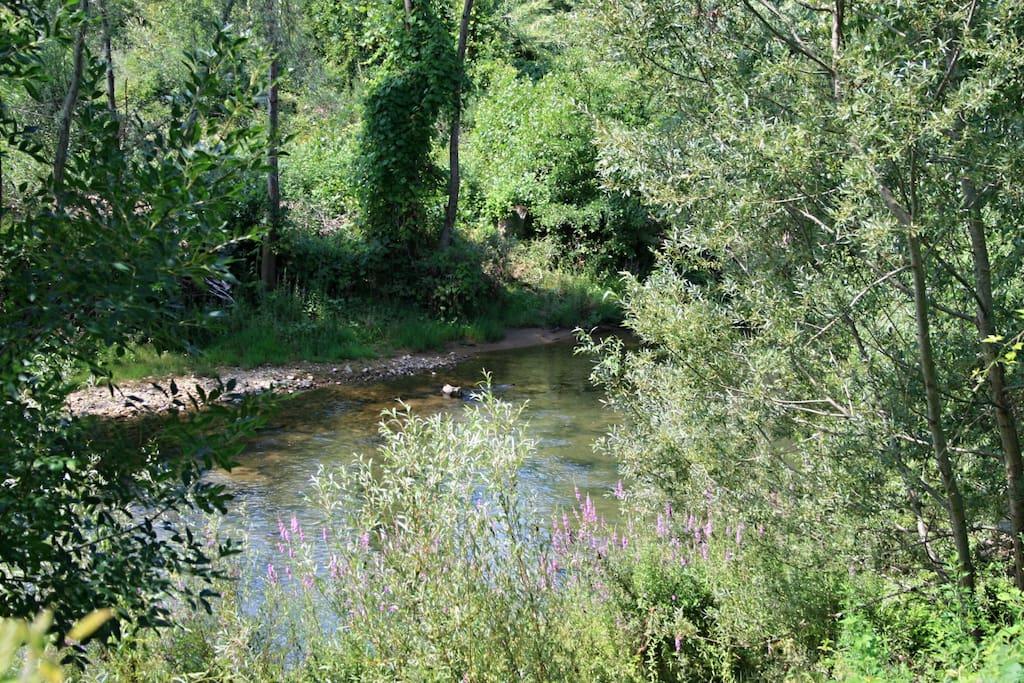 La rivière en contrebas de la maison