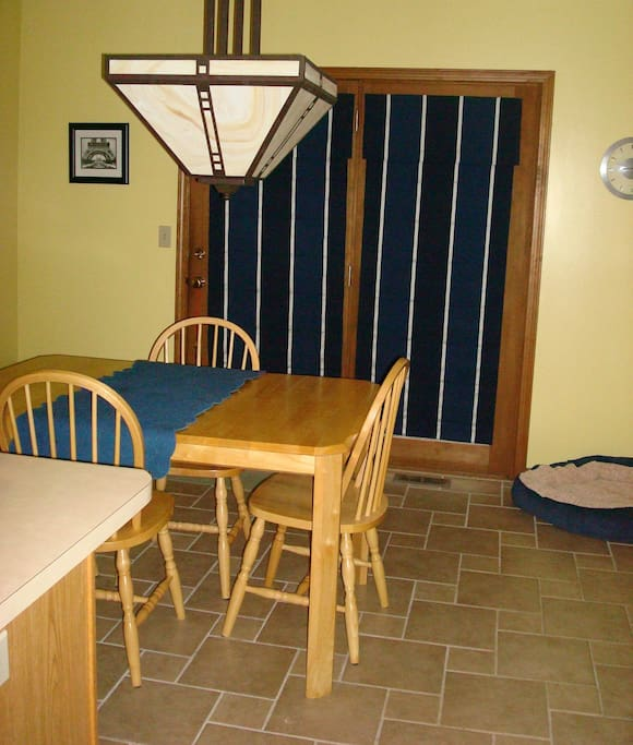 The eat-in area of our kitchen