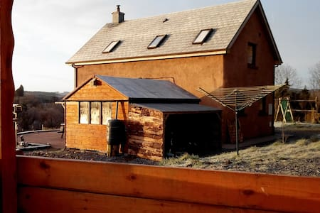 We offer a cosy wooden cabin