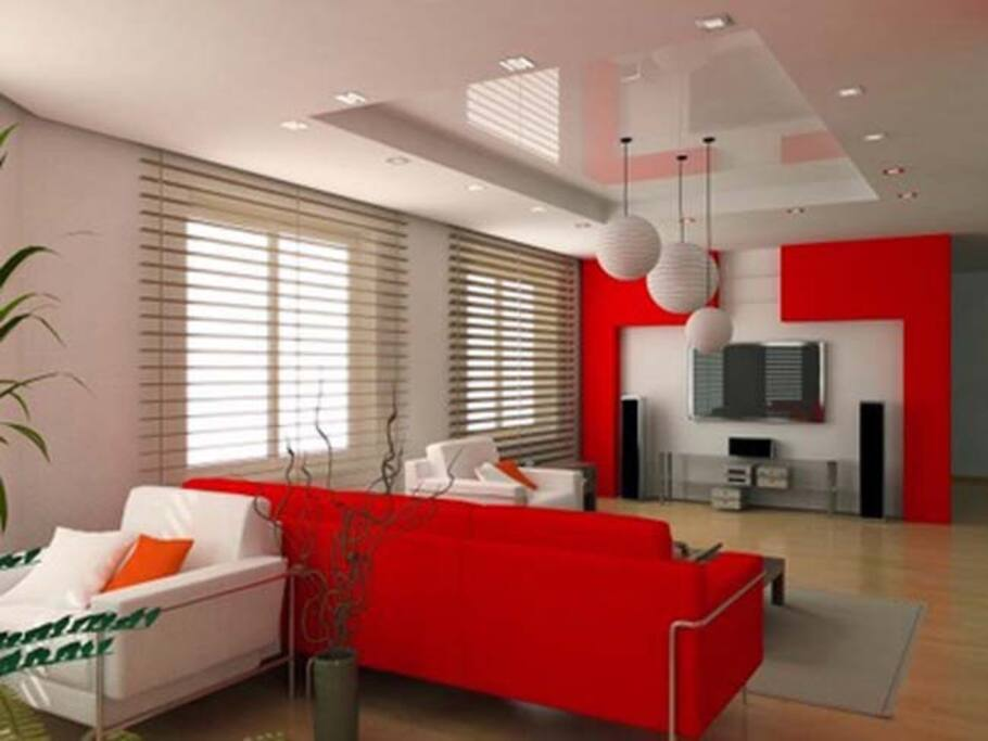 Example of central Living/Sleeping Room