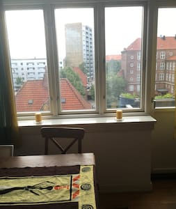 Cozy light apartment With small balcony - København - Apartment
