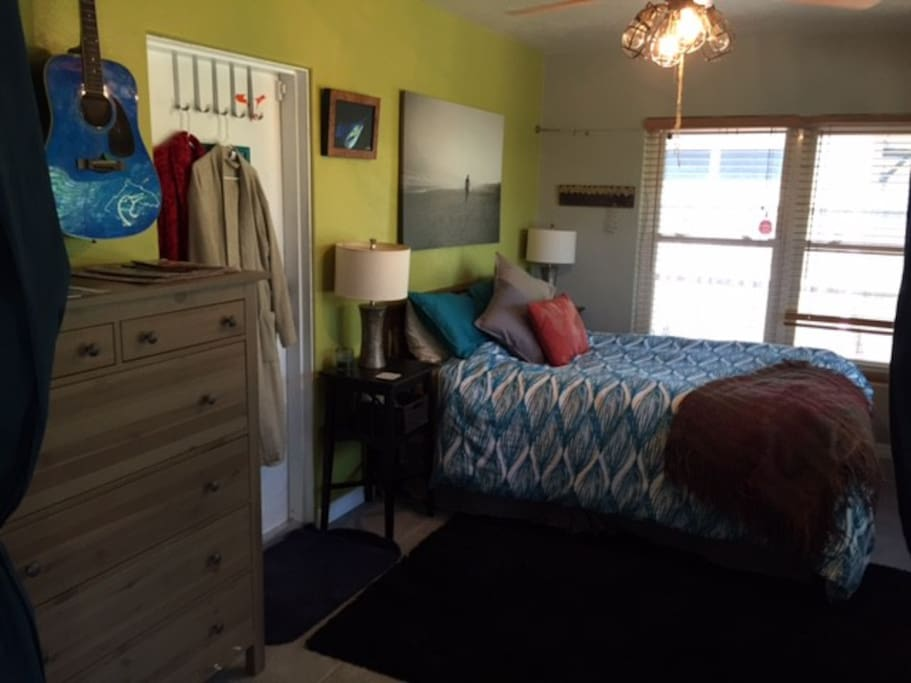 Queen size bed, armoire, large dresser