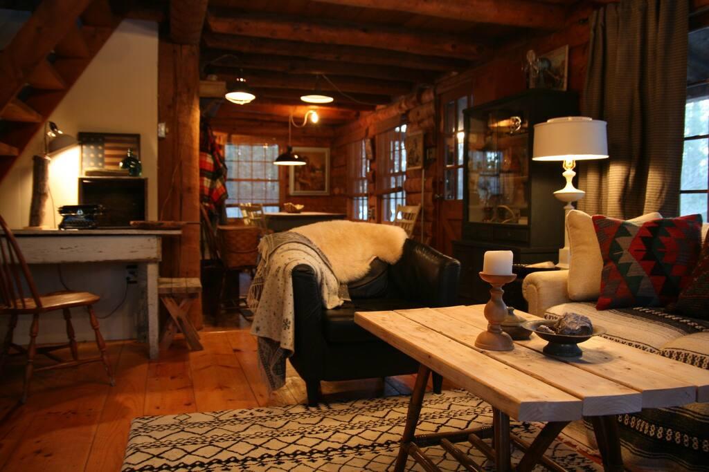 Hudson valley log cabin houses for rent in accord for Hudson log