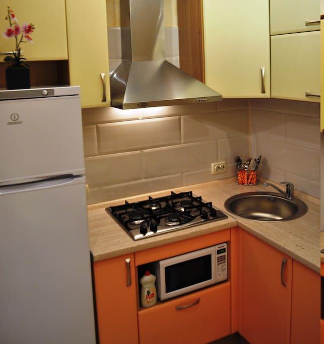 У нас вы можете снять квартиру в Киеве с чистым постельным бельем, полотенцами, тапочками и туалетными принадлежностями.