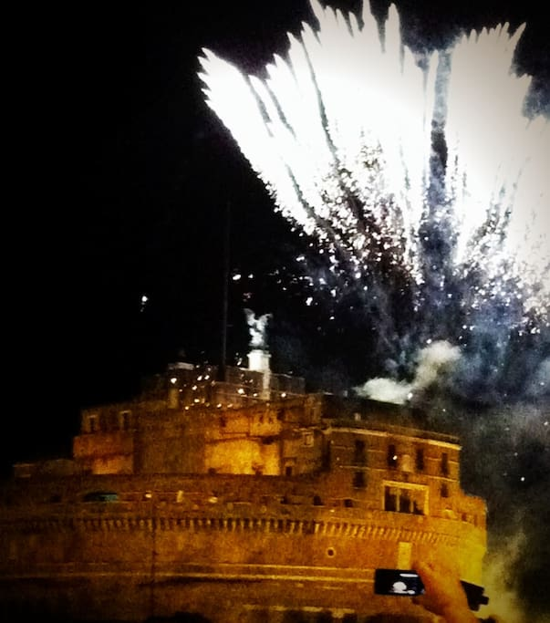 Fireworks on Castel S. Angelo - visible from the window