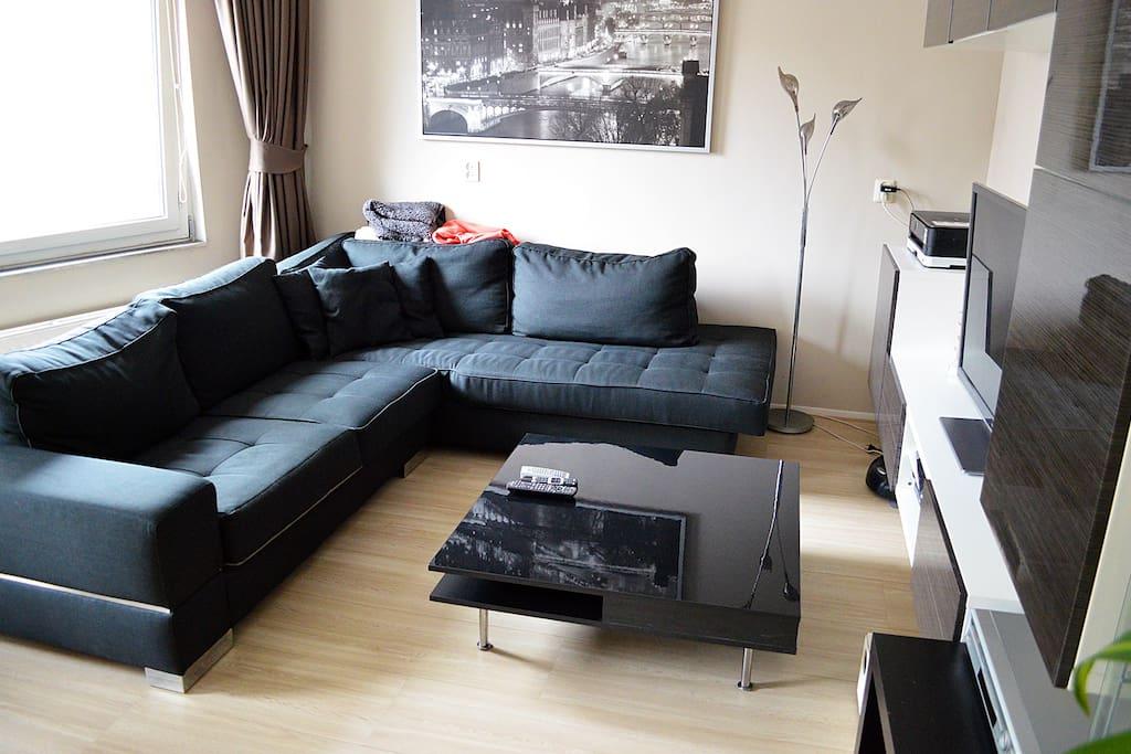 Modern decorated livingroom